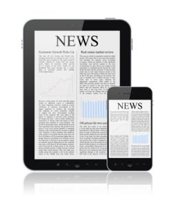 news site on tablet and smart phone